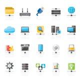 Iconos de la red de ordenadores y del Internet libre illustration