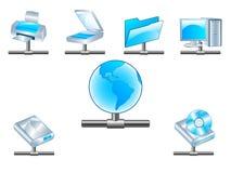 Iconos de la red del asunto ilustración del vector