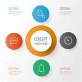 Iconos de la red fijados stock de ilustración