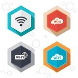 Iconos de la red inalámbrica de Wifi Burbuja del discurso de Wi-Fi Fotos de archivo libres de regalías