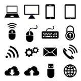 Iconos de la red y de los dispositivos móviles Fotos de archivo libres de regalías