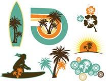 Iconos de la resaca Imagenes de archivo