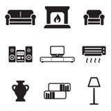 Iconos de la sala de estar Fotografía de archivo