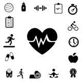Iconos de la salud y de la aptitud Fotografía de archivo