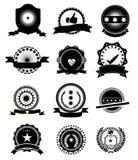 Iconos de la satisfacción garantizada Fotografía de archivo libre de regalías