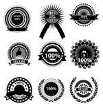 Iconos de la satisfacción garantizada Imágenes de archivo libres de regalías