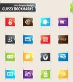 Iconos de la señal del comercio electrónico Imagen de archivo libre de regalías