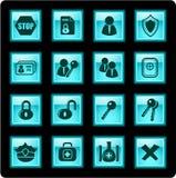 Iconos de la seguridad Imagen de archivo libre de regalías