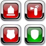 Iconos de la seguridad. Fotos de archivo libres de regalías
