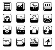 Iconos de la seguridad stock de ilustración