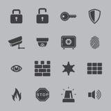 Iconos de la seguridad Fotos de archivo
