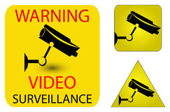 Iconos de la seguridad de la cámara Fotografía de archivo libre de regalías