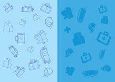 Iconos de la seguridad del trabajo Imágenes de archivo libres de regalías