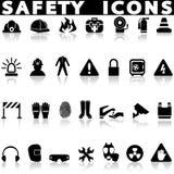Iconos de la seguridad fijados stock de ilustración