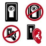 Iconos de la seguridad fijados Fotografía de archivo libre de regalías