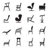 Iconos de la silla Fotos de archivo libres de regalías