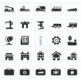 Iconos de la silueta Fotografía de archivo libre de regalías