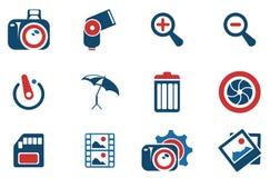 Iconos de la silueta de la fotografía Imagen de archivo libre de regalías