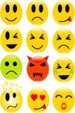 iconos de la sonrisa Fotografía de archivo libre de regalías