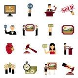 Iconos de la subasta fijados libre illustration
