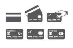 Iconos de la tarjeta de crédito Imágenes de archivo libres de regalías