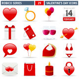 Iconos de la tarjeta del día de San Valentín - serie de Robico Fotografía de archivo libre de regalías
