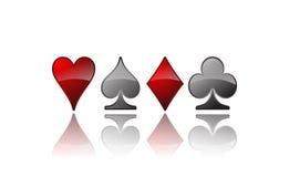 Iconos de la tarjeta del póker del vector Foto de archivo libre de regalías