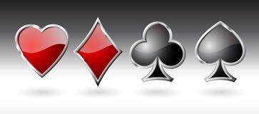 Iconos de la tarjeta que juega. Foto de archivo libre de regalías