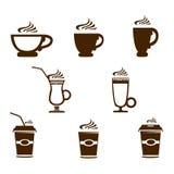 Iconos de la taza de café ilustración del vector