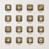 Iconos de la taza de café fijados Fotografía de archivo