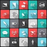 Iconos de la tecnología Imagenes de archivo