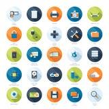 Iconos de la tecnología Fotografía de archivo