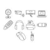 Iconos de la tecnología Fotos de archivo libres de regalías