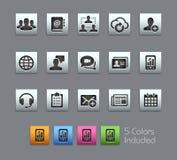 Iconos de la tecnología del asunto stock de ilustración