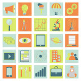 Iconos de la tecnología, del negocio y de la ciencia Fotografía de archivo libre de regalías