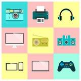 Iconos de la tecnología del vector Fotos de archivo
