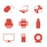 Iconos de la tecnología fijados Imagenes de archivo