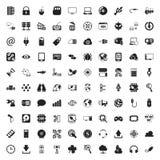 Iconos de la tecnología 100 fijados para el web Imagen de archivo