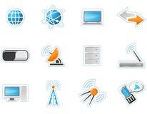 Iconos de la tecnología inalámbrica Imagen de archivo