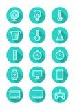 Iconos de la tecnología y de la ciencia Imágenes de archivo libres de regalías