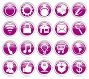 iconos de la tela Imagenes de archivo