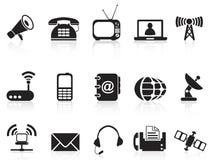 Iconos de la telecomunicación Fotografía de archivo libre de regalías