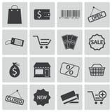 Iconos de la tienda del negro del vector Libre Illustration