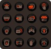 Iconos de la tienda de empeño fijados ilustración del vector