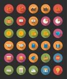 Iconos de la tienda y de las finanzas Fotos de archivo libres de regalías