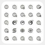 Iconos de la tierra del globo fijados Imágenes de archivo libres de regalías
