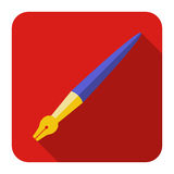 Iconos de la tinta de la pluma del arte en el diseño plano Imagen de archivo libre de regalías