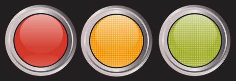 iconos de la Tráfico-luz Imagenes de archivo