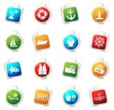 Iconos de la travesía fijados Imagen de archivo libre de regalías