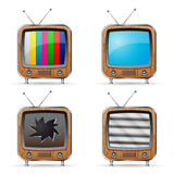 Iconos de la TV Foto de archivo